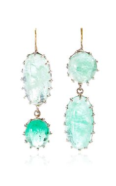 One of a Kind Oval Emerald Earrings by Renee Lewis