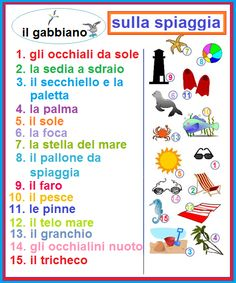 Learning Italian - On the beach (sulla spiagga)
