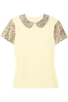 this Malene Birger top combines two things I love: sequins (obviously) with schoolgirl-sweet collar detailing