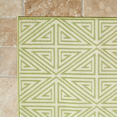 """Birch Lane Solana Indoor/Outdoor Rug, Fern & Parchment 6'7"""" x 9'6"""" $186"""