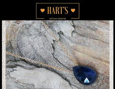 ~Blue Sapphire Solitaire 14K Gold Necklace~ All My Devotion blue sapphire gemstone solitaire teardrop slider, approx. 9 x 14 mm, suspended from 14kt gold-filled cable chain. 14kt gold-filled lobster clasp and catch for closure.  https://www.etsy.com/listing/479894090/blue-sapphire-solitaire-14k-gold?utm_source=Pinterest&utm_medium=PageTools&utm_campaign=Share