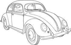vw beetle coloring pages 10 | auto illustration, malvorlagen, käfer auto