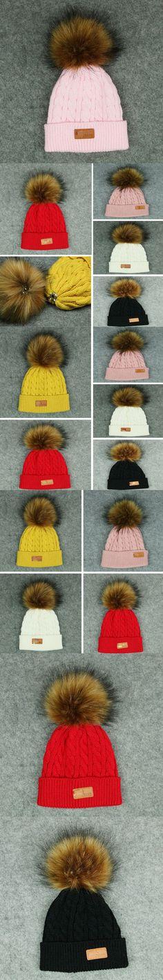 New Fashion Child Kids Unisex Warm Winter Crochet Knitted Ski Cap Wool Knit Beanie Hat Casual Cute Children Knit Beanies