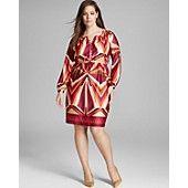 Melissa Masse Plus Printed Shirt Dress