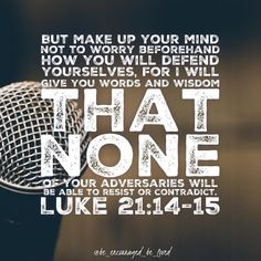 When the Holy Spirit gives you leeway to speak- do not be afraid!! God will always have your back (as long as you are in obedience to…