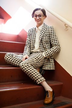 Maria Kochetkova: My personal style in three words: I. Don't. Know. Pant and jacket: Steven Alan.