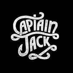 Captain Jack Lettering by Alejandro Giraldo Typography Logo, Graphic Design Typography, Lettering Design, Logo Design, Logos, Serif Typeface, Identity Design, Typography Served, Typography Quotes