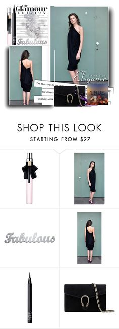 """""""Trueshopp"""" by amra-2-2 ❤ liked on Polyvore featuring Yves Saint Laurent, NARS Cosmetics and Gucci"""