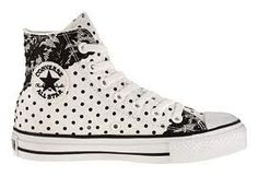 Black & White Polka Dotted Converse