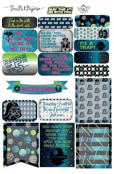 Star Wars May the 4th planner stickers for ECLP IWP