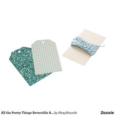 All the Pretty Things Reversible Argyle/Glitter Gift Tags