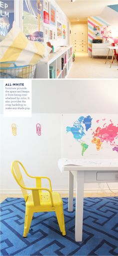 Colorful playroom with white furniture land of nod playrooms and