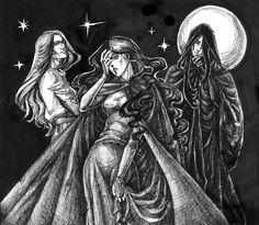 Solinari, Lunitari, Nuitari // The Gods of Magic, Dragonlance
