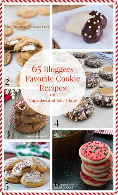 65 Bloggers Favorite Cookie Recipes - for all of your Christmas cookie platters, homemade gifts, and holiday desserts! | cupcakesandkalechips.com