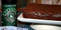 Dubbel Dark Chocolate Cake with Dark Chocolate Ganache {Guinness Cake with a Gluten-Free Makeover} w/ Green's Dubbel Dark Gluten-Free Ale