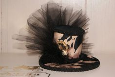 Pink and Black tophat.where could I wear that? All Grown Up, Kentucky Derby, To My Daughter, Style Me, Whimsical, Captain Hat, Steampunk, Goth, Black And White