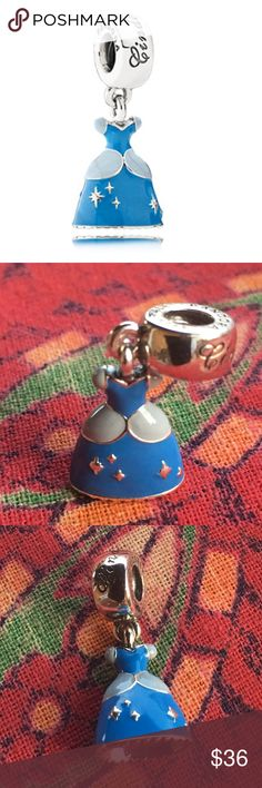 PANDORA DISNEY CINDERELLA'S DRESS DANGLE AUTHENTIC PANDORA DISNEY S925 ALE SOLID STERLING BRAND NEW SHIPS SAME DAY Pandora Jewelry Bracelets