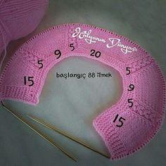 Best 12 Kids blouse with knitting needles, – SkillOfKing. Knitting For Kids, Free Knitting, Baby Knitting, Crochet Hooded Scarf, Knit Crochet, Diy Craft Projects, Diy Crafts For Kids, Tricot Baby, Knitting Patterns