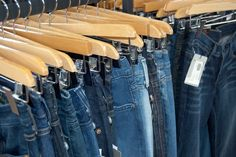 TONS of designer jeans at Next Door boutique. A huge selection and they are all arranged by size.