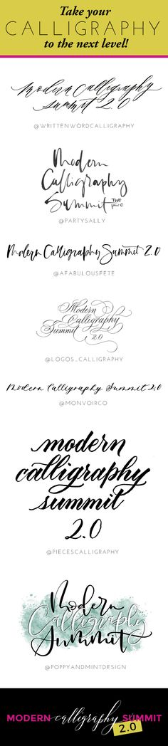 Modern Calligraphy Summit 2.0! Learn how to letter on everything but paper + more from 7 different instructors