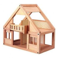 Classic Wooden Dollhouse - Wood Family house started out as this.