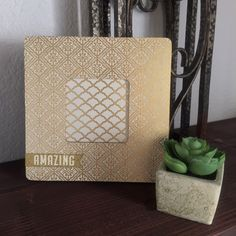 A personal favorite from my Etsy shop https://www.etsy.com/listing/237973436/gold-picture-frame-gold-and-ivory-photo