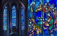 St Stephens' stained glass windows by Chagall
