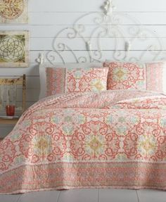Jessca Simpson Alila King Quilt $94.99 Sink into style and comfort with this Alila quilt by Jessica Simpson rendered from soft cotton finished with a vibrant, allover multi-color print.