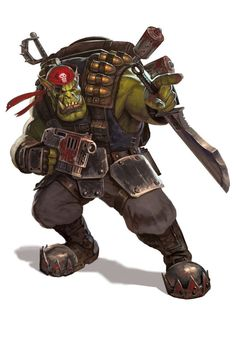 the-emperor-protects: Blood Axe Klan Kommando by : diegogisbertllorens me:you can obviously tell this guy is trained for stealth. Warhammer 40k Rpg, Orks 40k, Warhammer Fantasy, Lotr, Rogue Traders, Tyranids, The Grim, Shadowrun, Fantasy Characters