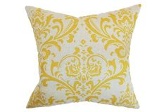 Olavarria 18x18 Pillow, Corn Yellow