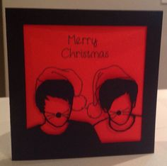 Papercut Dan And Phil Christmas Card - With Hats! in Home, Furniture & DIY, Celebrations & Occasions, Cards & Stationery | eBay