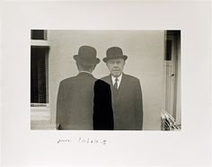 Duane Michals (b.1932) - 1965: Magritte (Coming and Going)