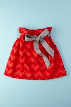 Chevron Print Skirt for Girls.