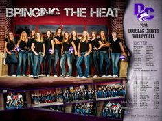 Poster photography and design I did for the 2013 Douglas County HS volleyball team. Copyright Matt Daniels Photography.