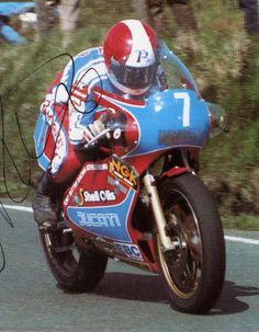 Tony Rutter Ducati 750, Ducati Cafe Racer, Motorcycle Racers, Racing Motorcycles, Valentino Rossi, Road Racing, Racing Bike, Ducati Pantah, Moto Car