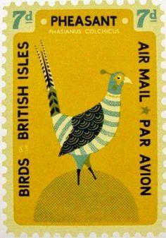 Pheasant Postage Stamp