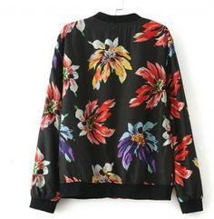 Flower baseball jackets girls long sleeve spring sweatshirt