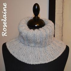 Un snood avec des côtes (tuto) Patron Crochet, Knit Crochet, Crochet Hats, Easy Knitting, Knitting Patterns, Tricot Baby, Snood Scarf, Wool Thread, Knit Cowl