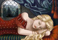 Художник RedSelenaизобразила Спящую красавицу по своему