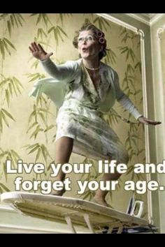 #Live your life and forget your age. #Gotta have humor # ironing board surf