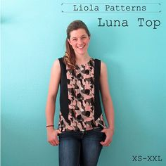 Liola Designs Luna Top Sewing Pattern - The Luna Top is a relaxed fit 'go-to' top. This is the top you will want to wear everyday! It is so comfortable and easy to wear whilst looking very sytlish.With three sleeve length options