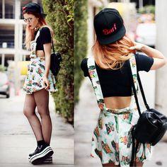 Dress, Snapback, Sneakers