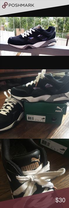 Puma Trinomic's for Women Puma Trinomic shoes. Has a thick sole. Worn a handful of times at most.  Still in great condition and box is included.  Size 9 Puma Shoes Sneakers