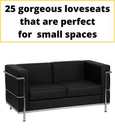 Black and steel modern sofa