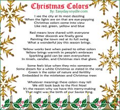 Christmas Poems for Christmas Poems. Well here you can find a good collection of Christmas Poems as well as Christmas cards with Christmas poems. Christmas is one of the most important holidays for Mankind. People give so much important to this& Christmas Program, Christmas Poems, Christmas Activities, A Christmas Story, Christmas Printables, Christmas Pictures, Christmas Colors, Christmas Traditions, Christmas Time