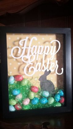 Easter shadow box. Created by Julie Knott