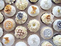 'Heavenly Cupcakes'...my neice's 18th birthday 'cake' was a set of these yummy cupcakes.