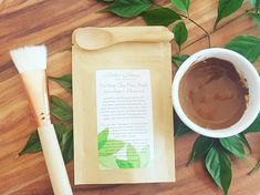 Image of Purifying Moroccan Clay Face Mask with Free eco-bamboo spoon + mask brush