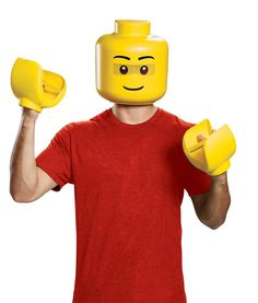 Halloween Costume Pair of Childs Size Yellow Lego Hands 100/% Polyester