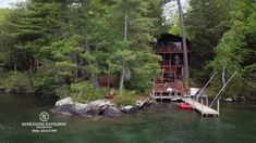 YorkTeam open house Sun 6/10 from 1-3pm. 17 Forest Bay Road South, Lake George -2 min video.This lakefront log home offers charming great room with huge field stone fireplace, superb views across the lake, over 200' of shore as it winds and turns, great docking and swimming. Lower level is walkout to lake and recreation room with field stone fireplace. Association provides sewer as well as forever wild land. Rental history is very strong at 4,500/wk New windows throughout.